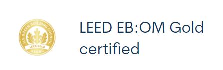 LEED Gold Certified - EB:OM