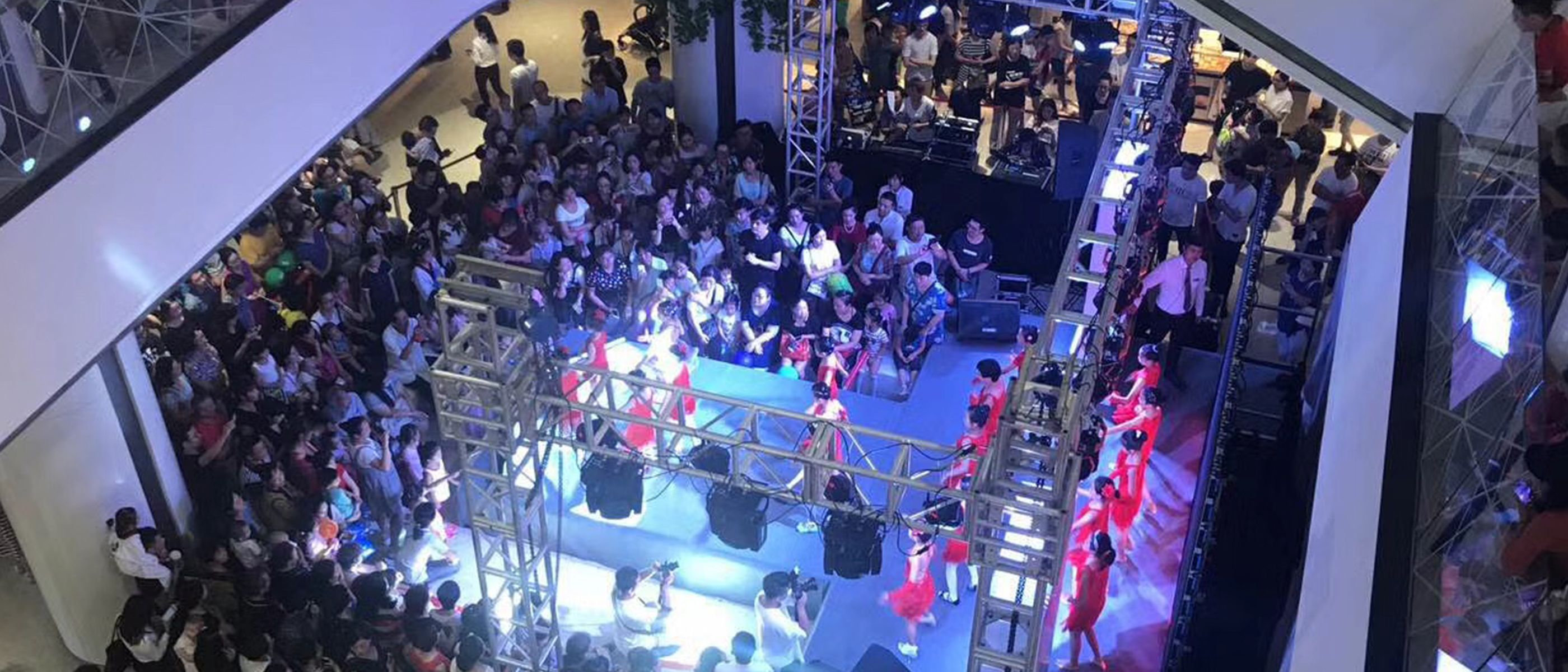 Performance at the mall