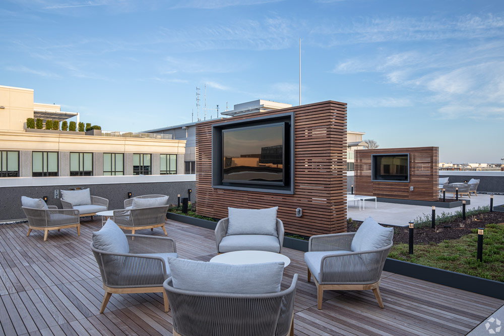 Rooftop Seating Area at the Victor Building