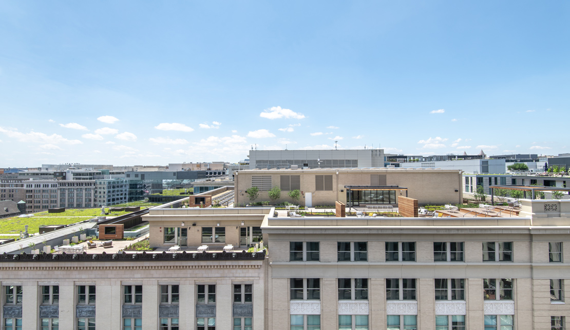 Rooftop View at the Victor Building