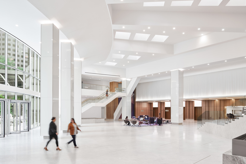 Interior common area seating and entrance