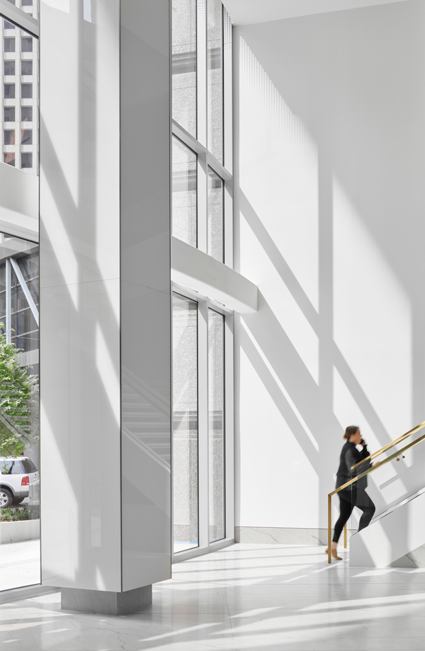 Interior entrance and escalator