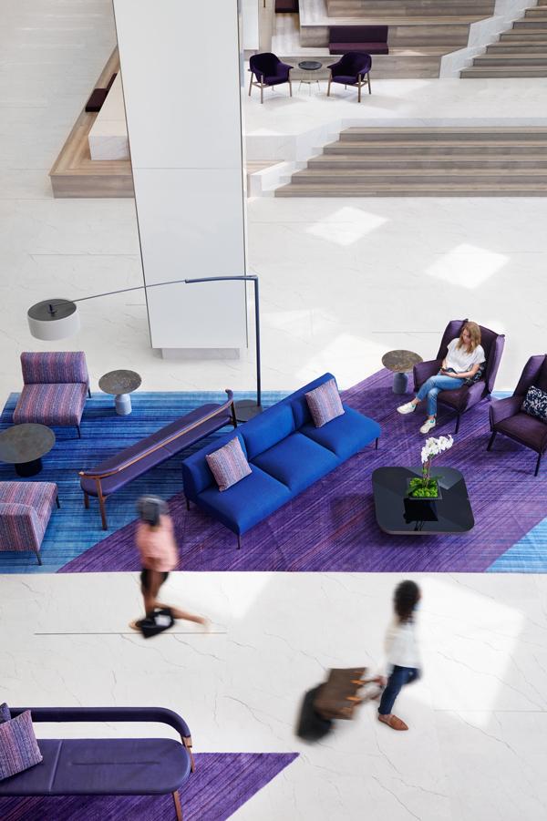 Interior soft seating area