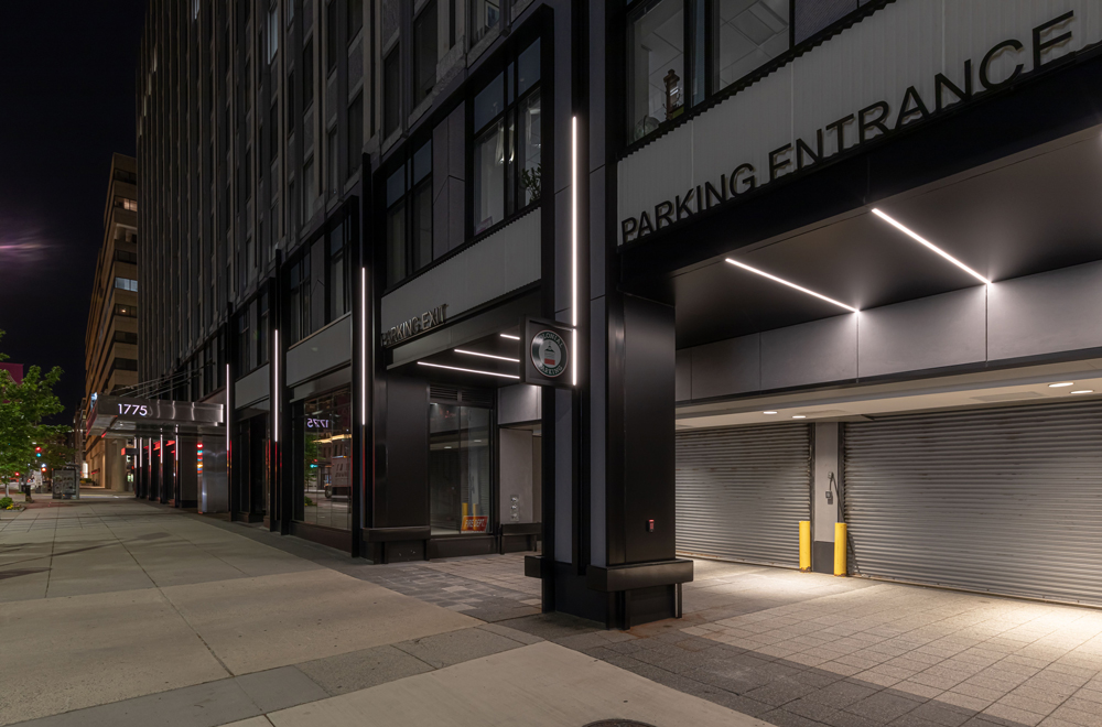 1775 Eye Street Parking Exit and Entrance