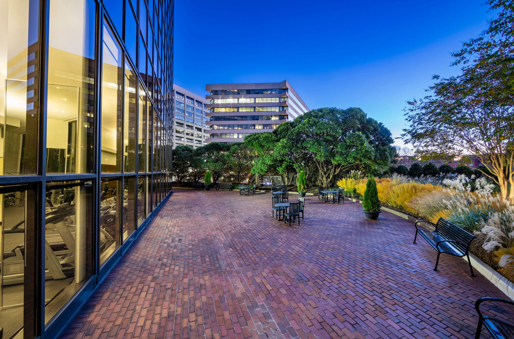 Arlington Tower Outdoor Patio and Fitness Center