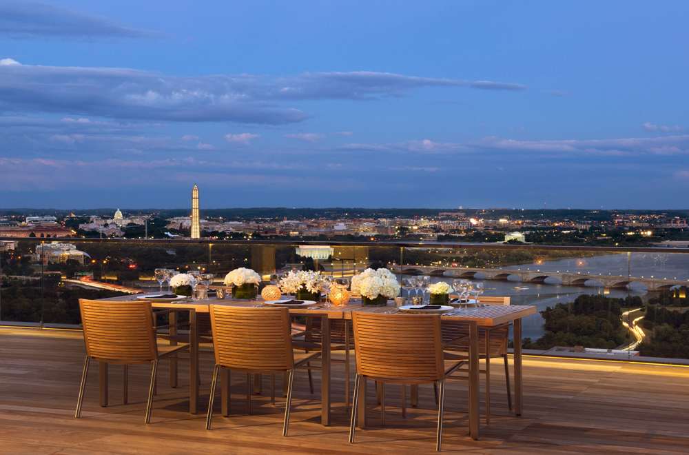 Arlington Tower Outdoor Seating and Dining Area