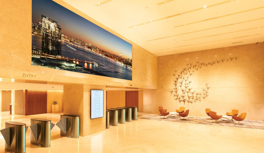 Equinox Interior Main Entrance and Lobby