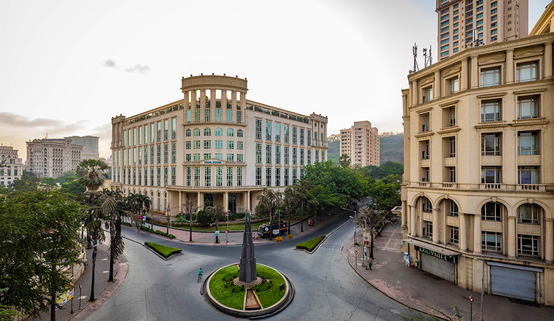 Powai Business District Exterior view of Traffic Circle and Business District