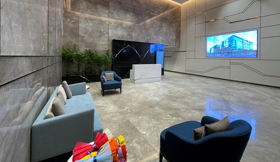 Powai Business District Interior Lobby and Soft Seating Area