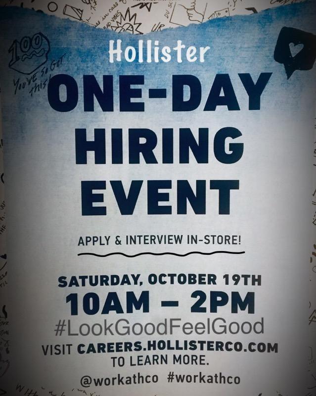 Hollister Hiring Event