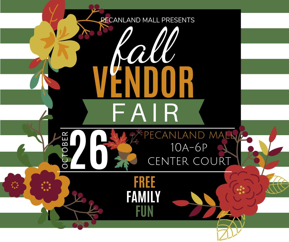 Fall Vendor Fair Poster