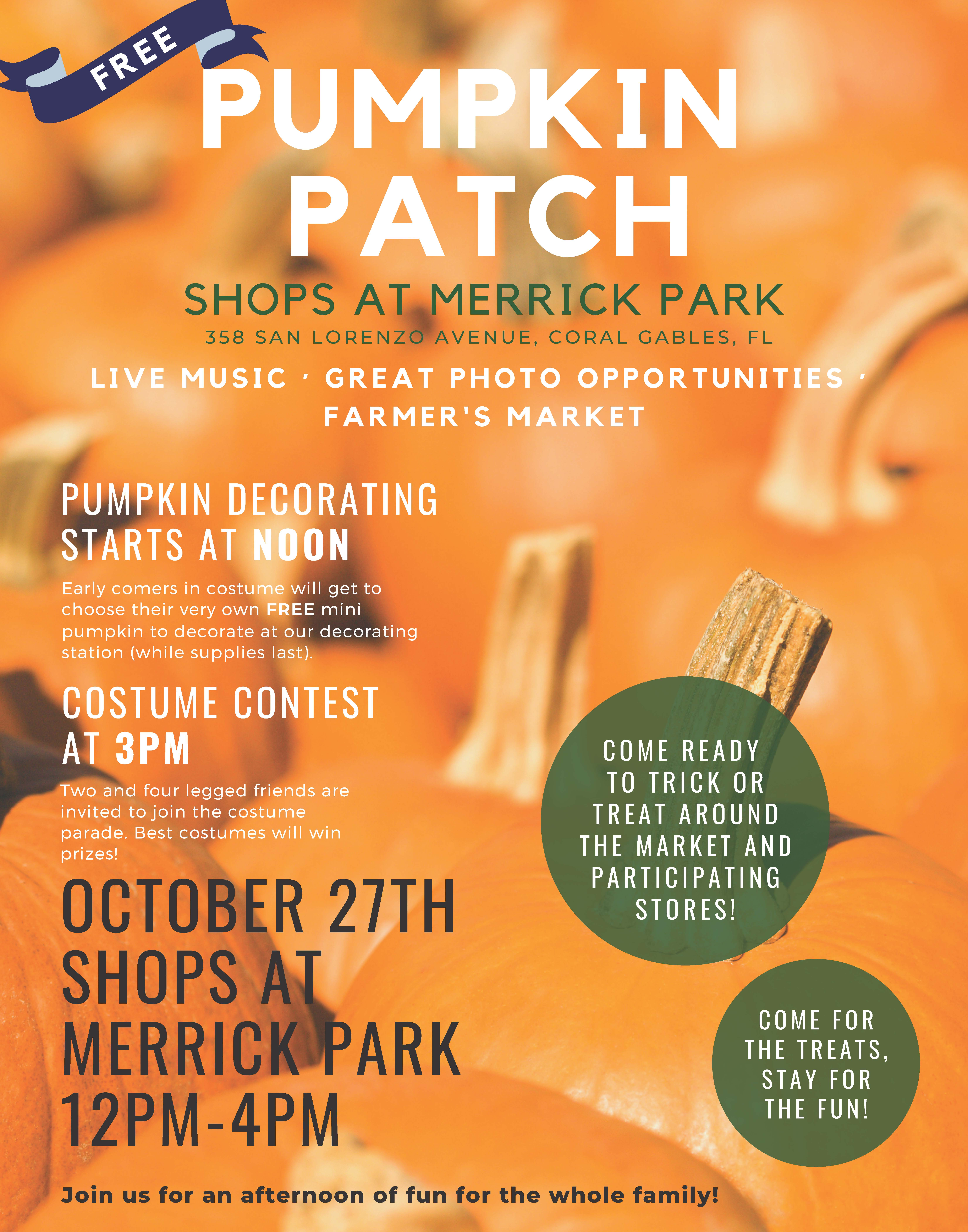 Farmer's Market Pumpkin Patch