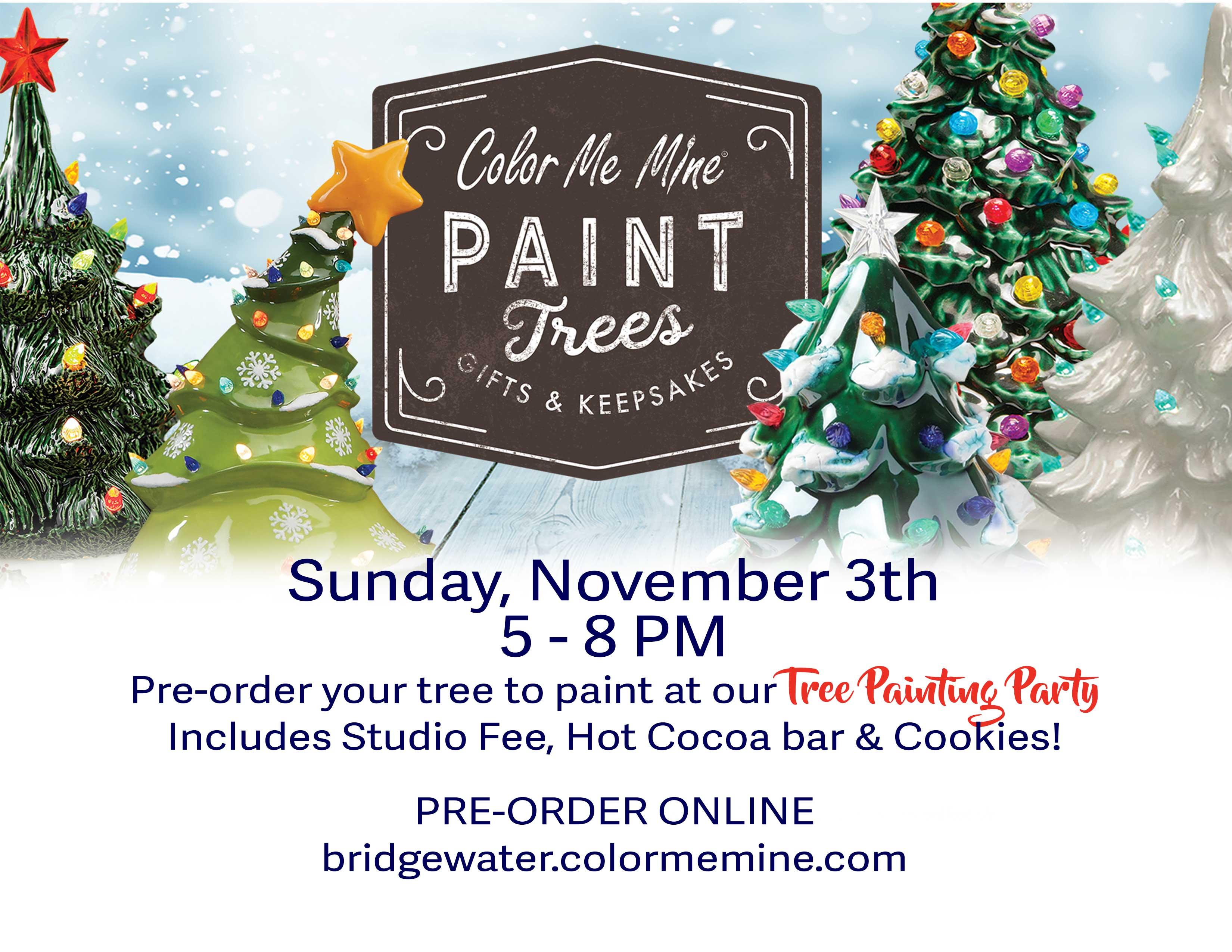 Christmas Tree Near Me.Christmas Tree Painting Party At Color Me Mine Bridgewater