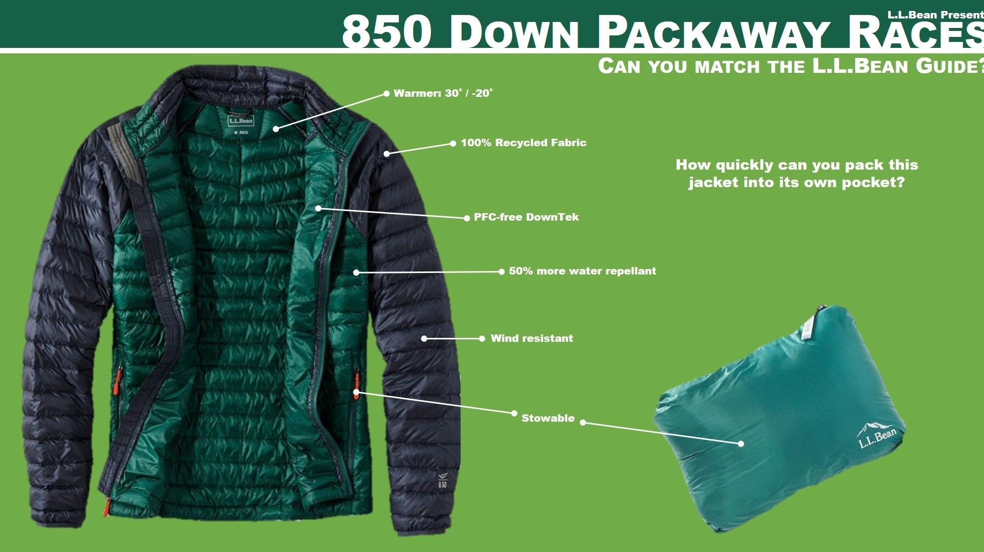 850 Down Packaway Races