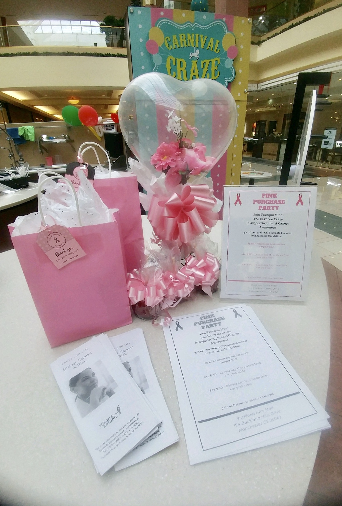 Join Tranquil Mind and Carnival Craze in supporting Breast Cancer Awareness