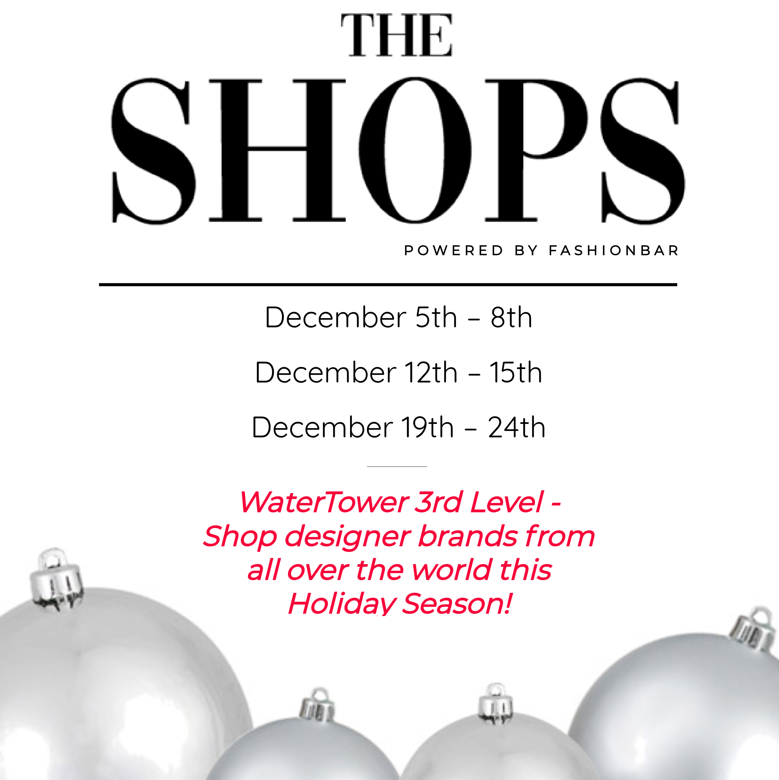 Free Admission to Attend The SHOPS!
