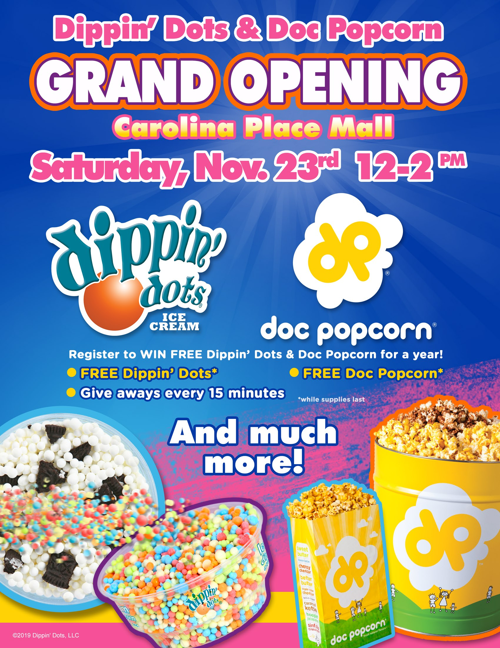 Dippin' Dots and Doc Popcorn
