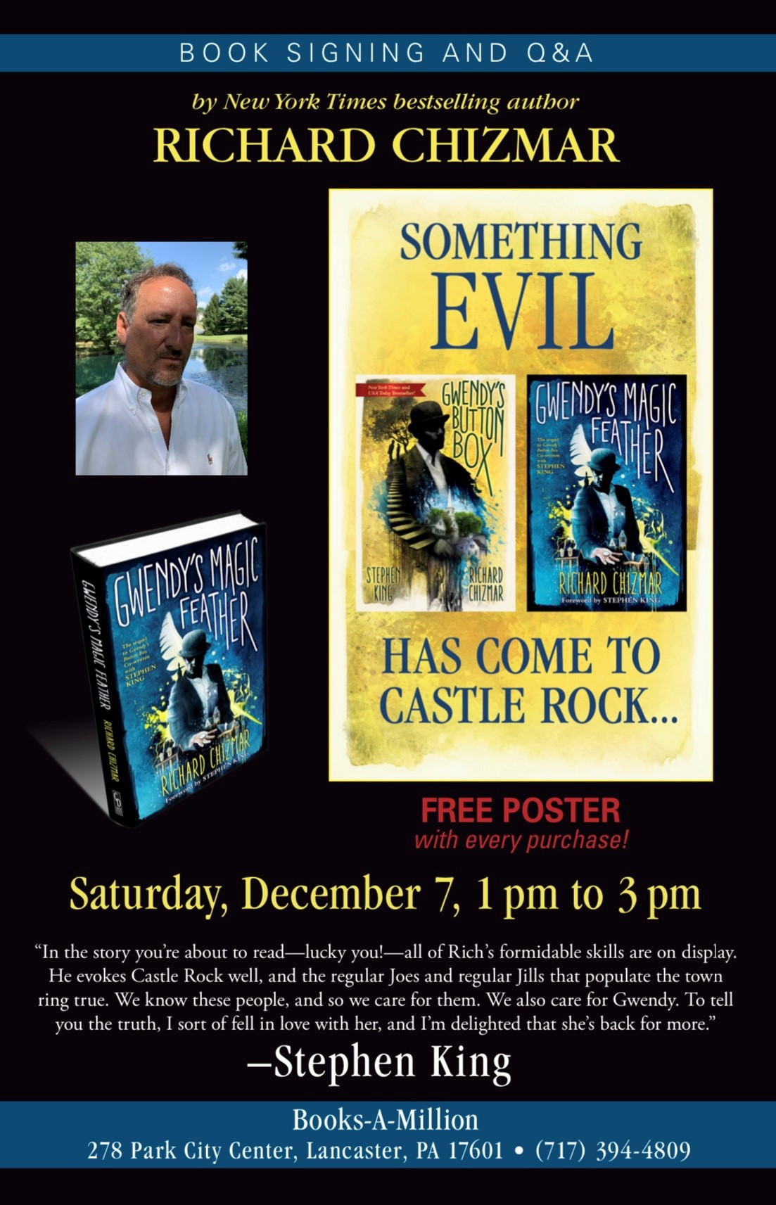 Richard Chizmar, Best Selling Author coming to BAM!