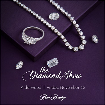 diamond jewelry on purple backdrop