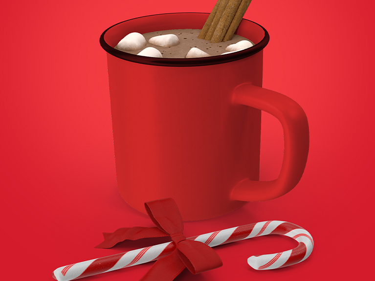 hot cocoa & candy cane