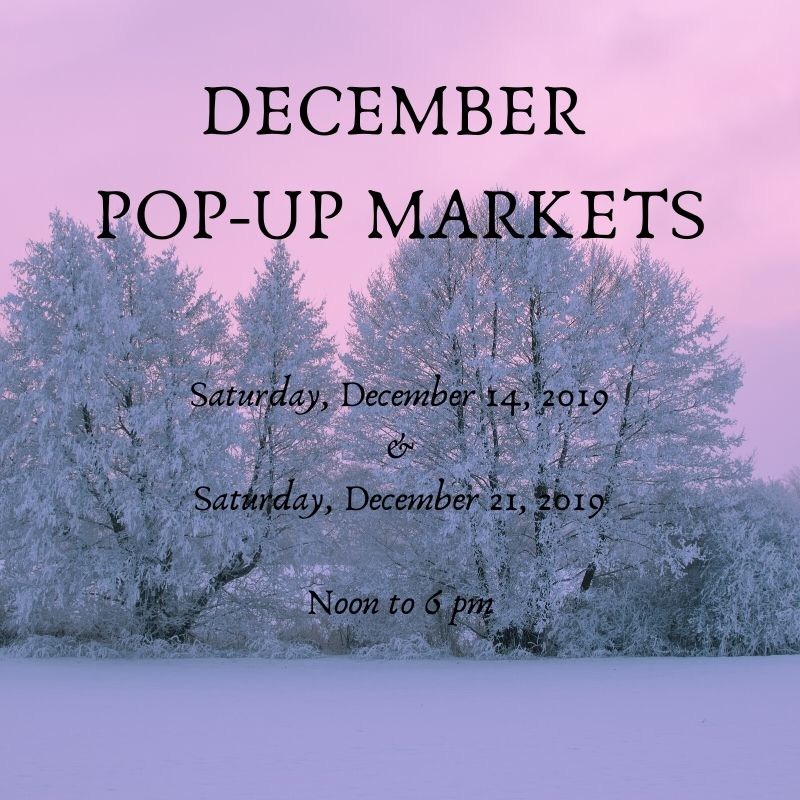 December Pop-Up Markets