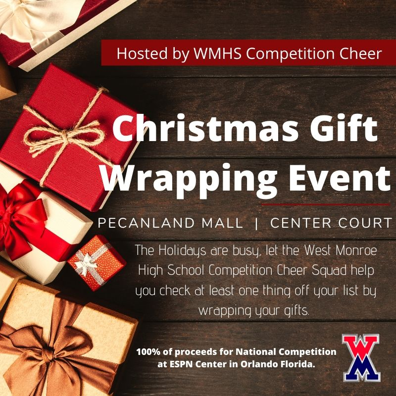 WMHS Cheer - Christmas Gift Wrapping at Pecanland Mall