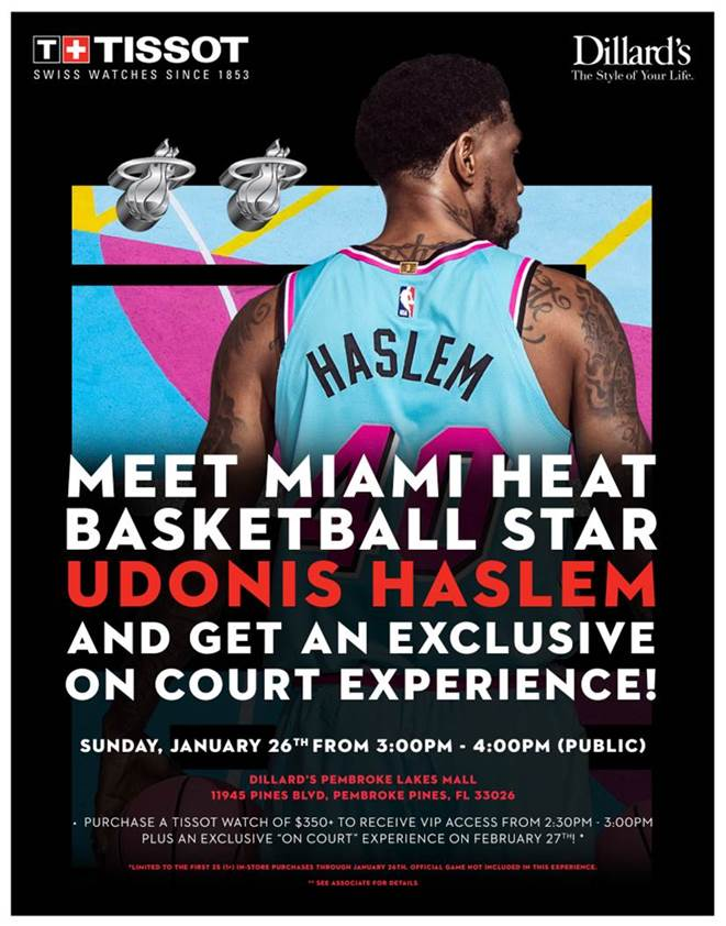Meet and Greet with Udonis Haslem at Dillard's!