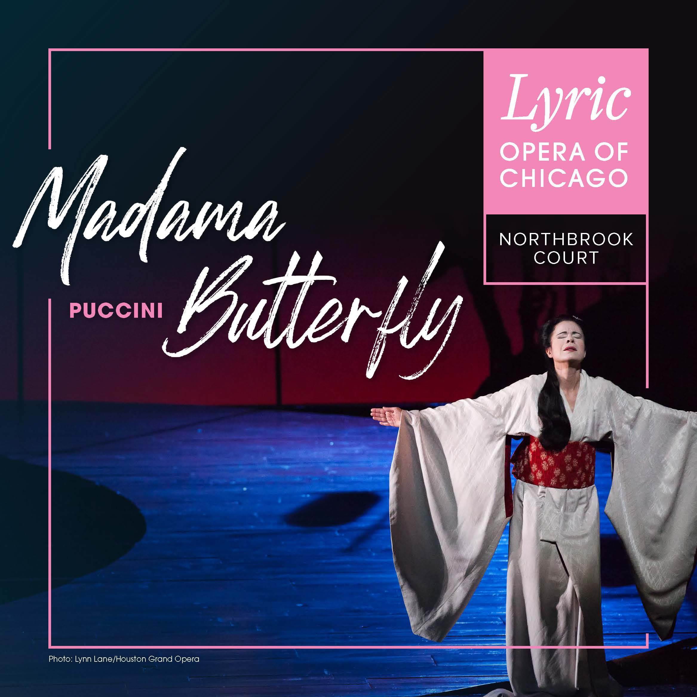 Madame Butterfly - woman standing on stage in white dress