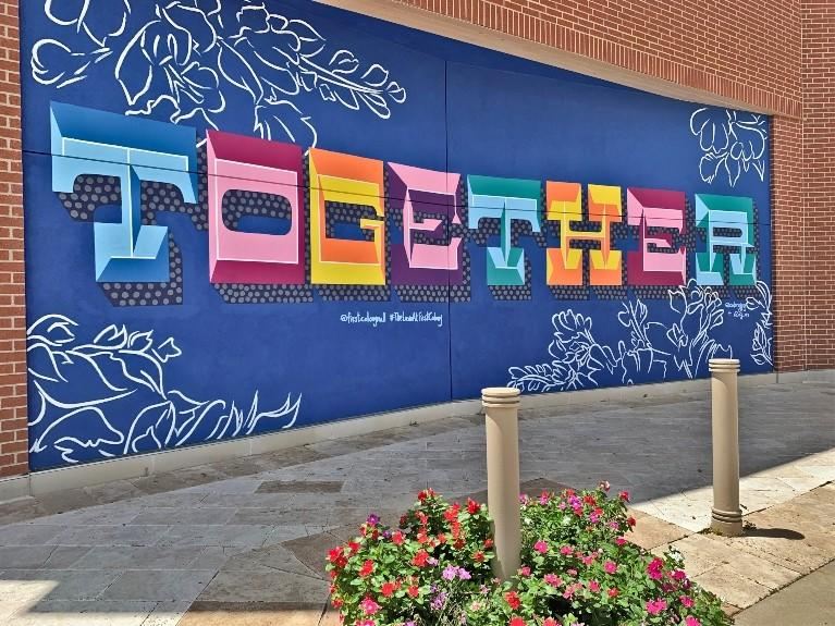 together mural first colony mall