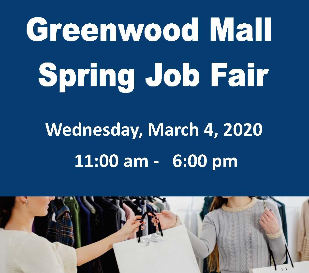 Greenwood Mall Job Fair