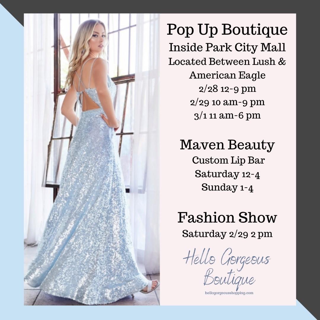 Pop Up Boutique & Fashion Show