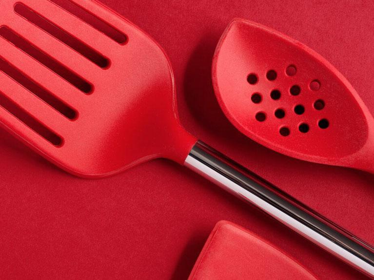 red utensils