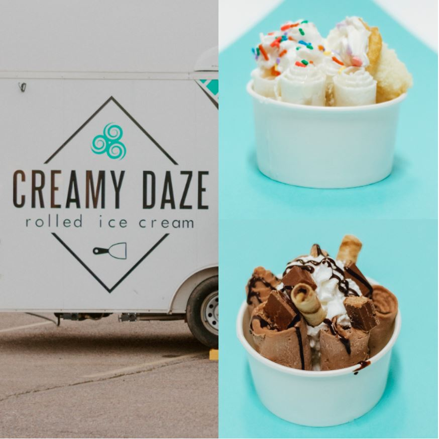 Creamy Daze rolled ice cream