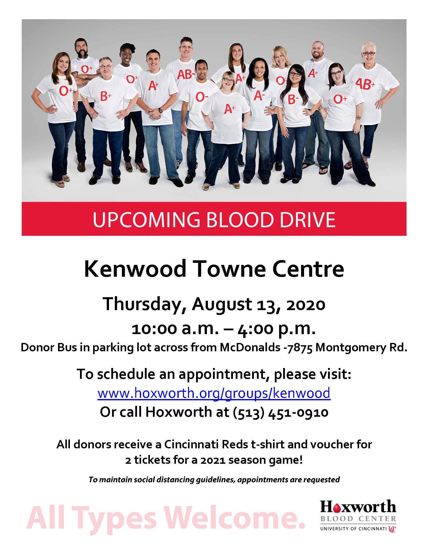 Hoxworth Blood Drive