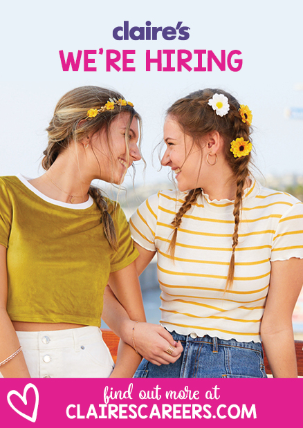 Claire's is Hiring!