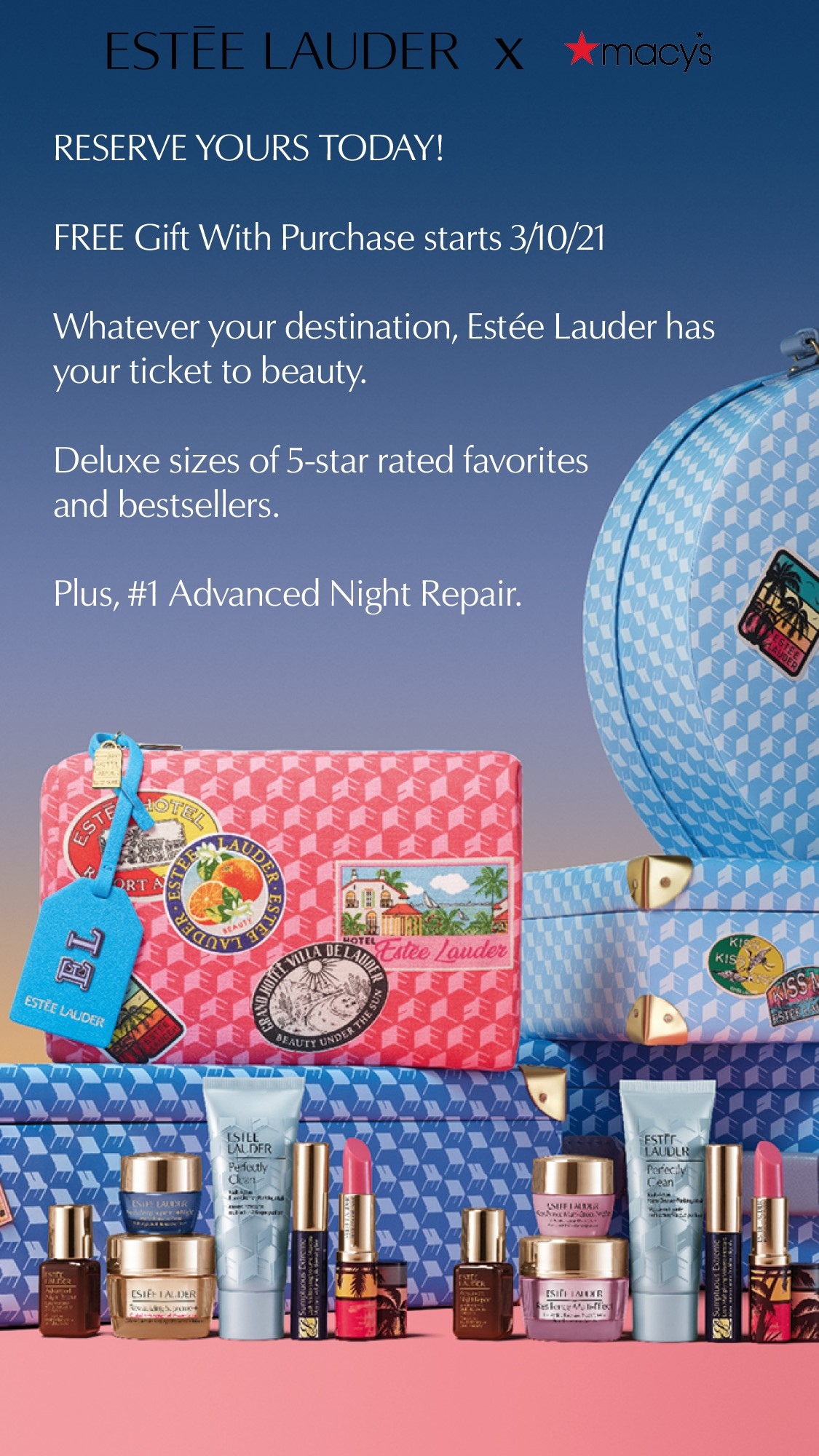 Estee Laude Gift with purchase pre-sale event
