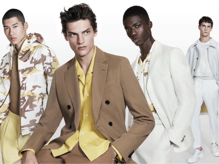 four male models in boss attire