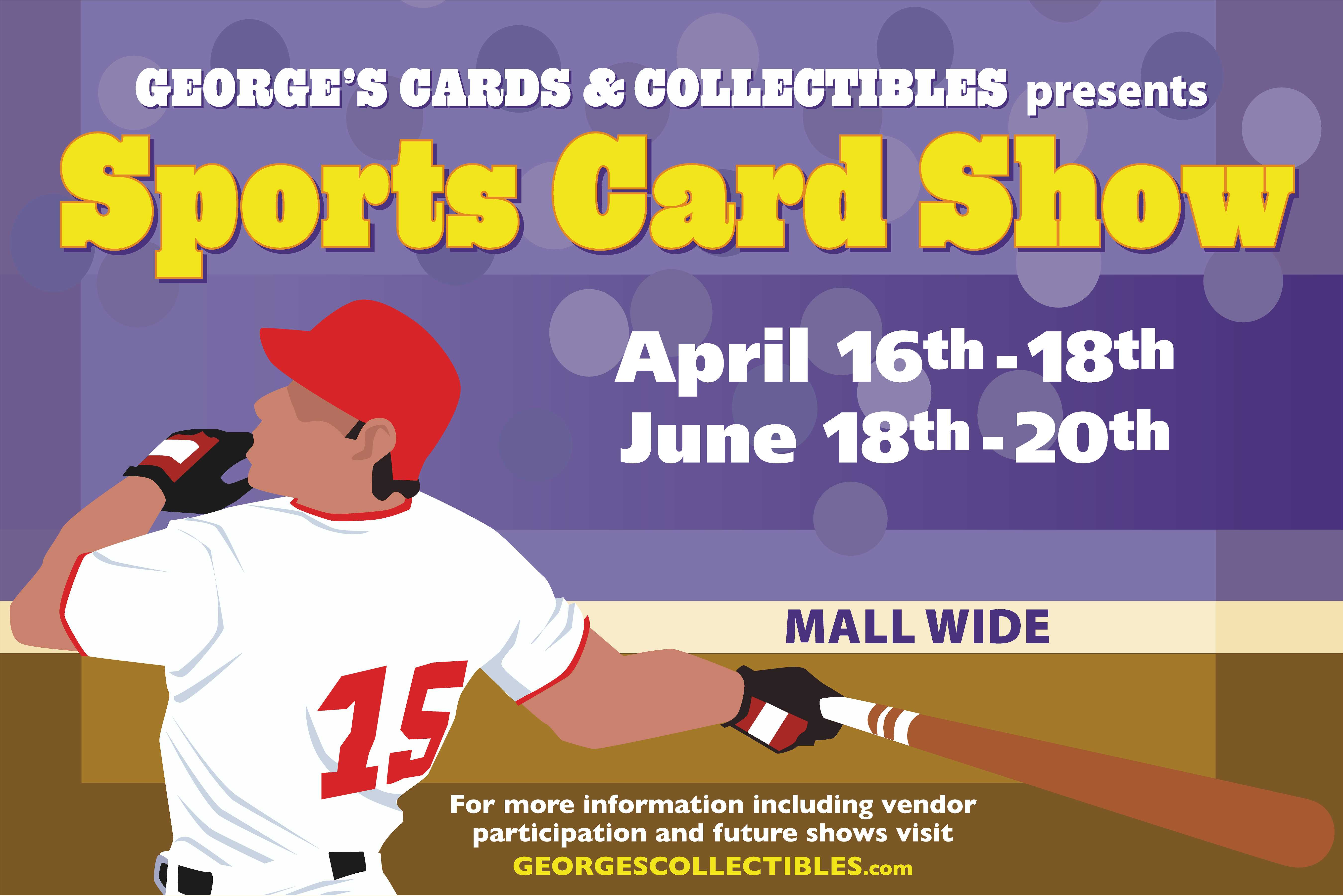 Promotional photo George's Card & Collectibles presents Sports Card Show