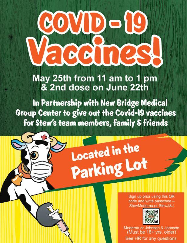 Stew Leonard's Covid-19 Vaccines
