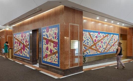 Artwork by Dan Funderburgh at One Pierrepoint Plaza in Brooklyn.