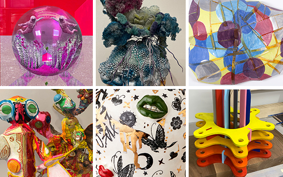 Collage of the work of the Dreamscapes artists