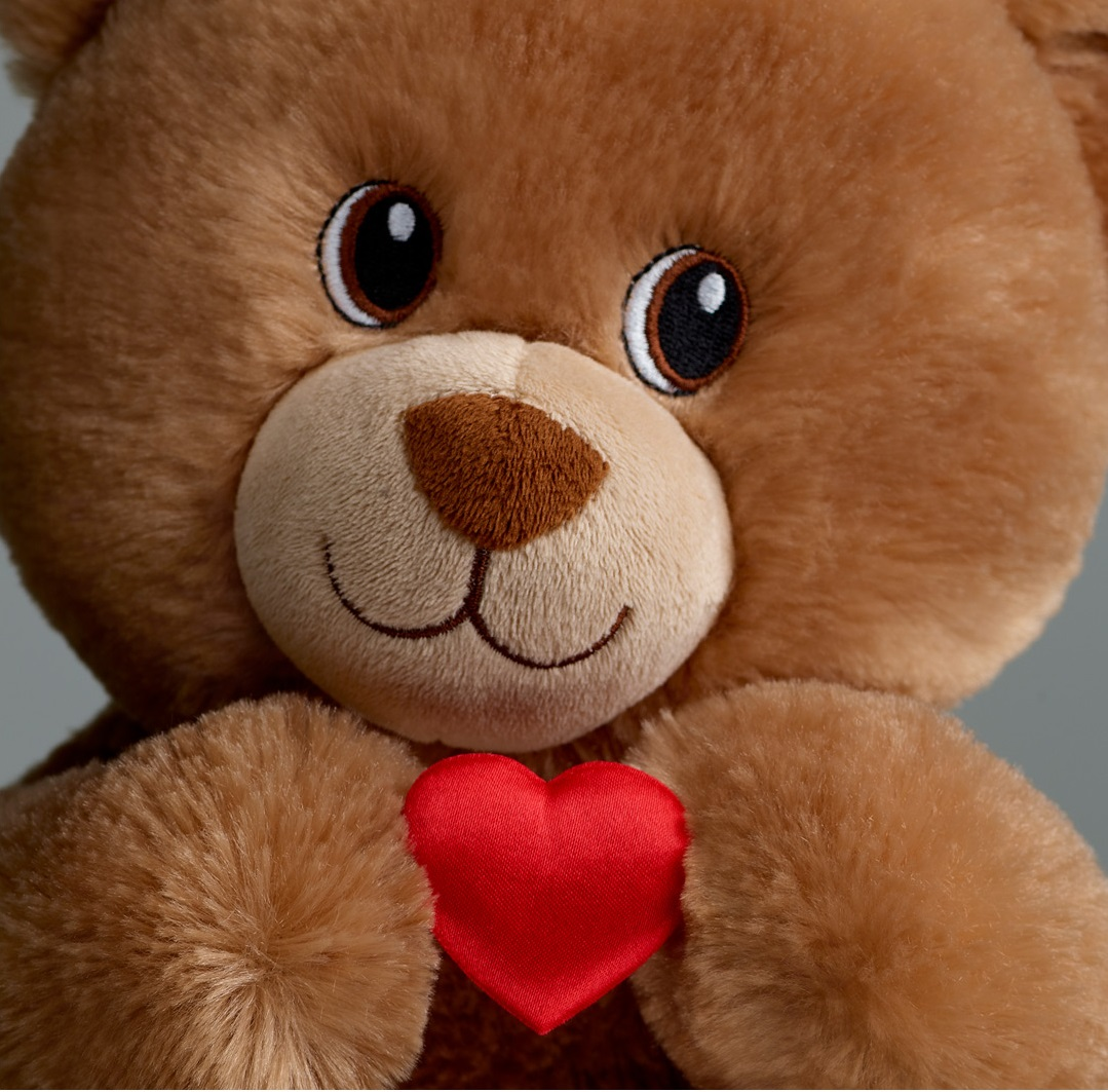 Close up bear with heart