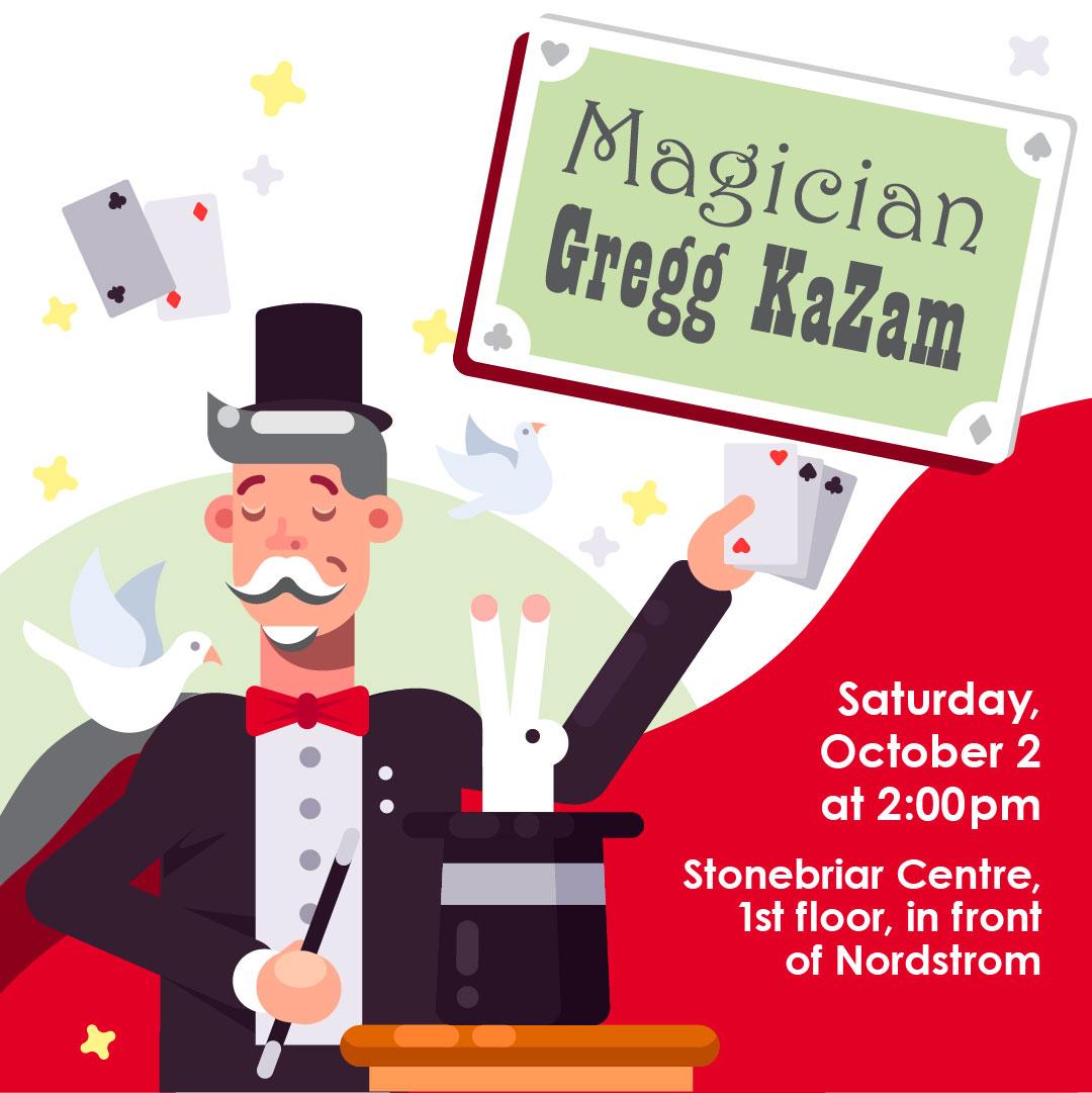 Magician Gregg KaZam with Frisco Library