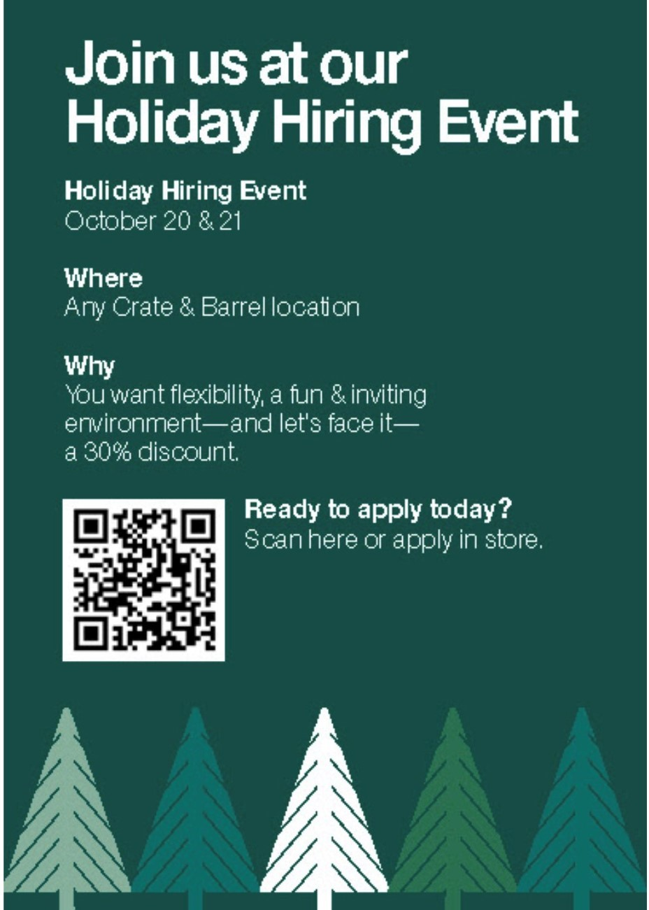 Holiday Hiring Open House
