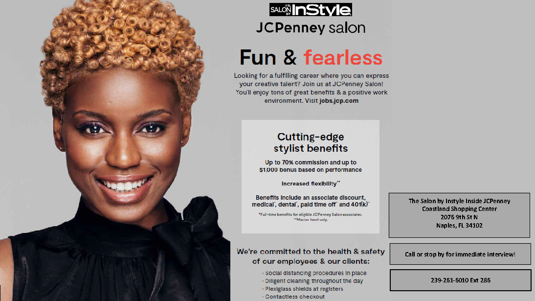 InStyle Salon inside JCPenny's is Now Hiring