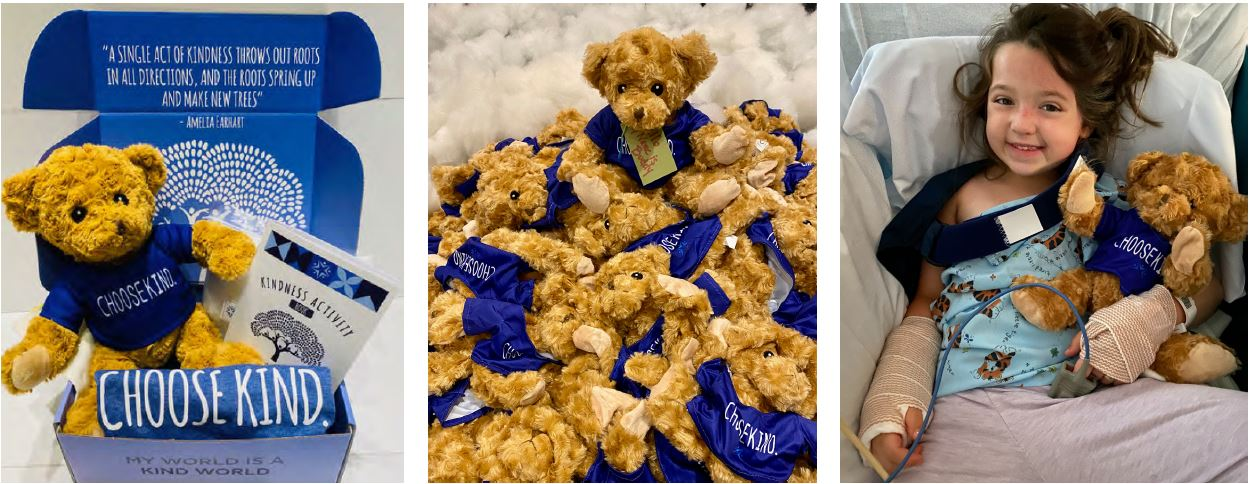 Teddy Bear boxes for World Kindness Day