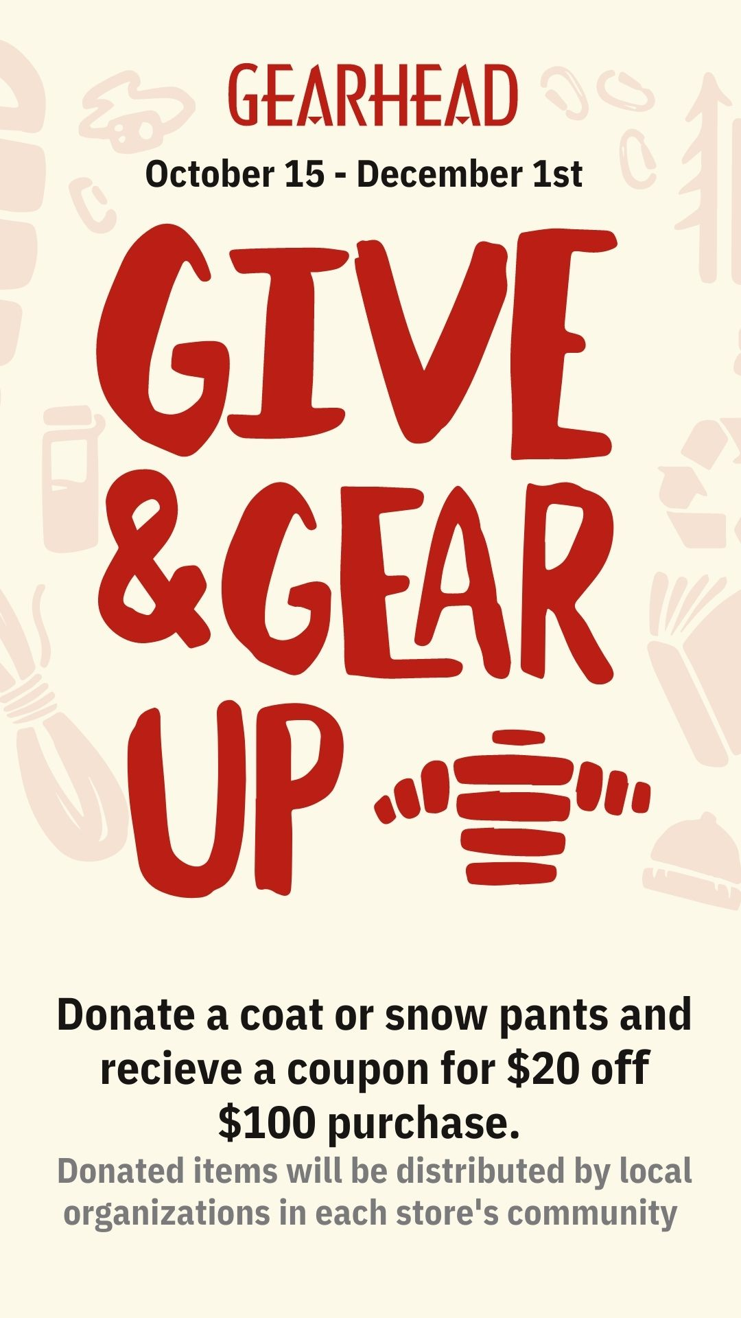 give and gear up