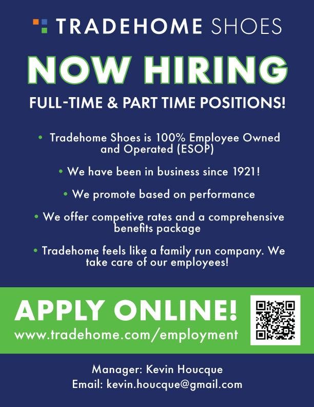 tradehome shoes hiring