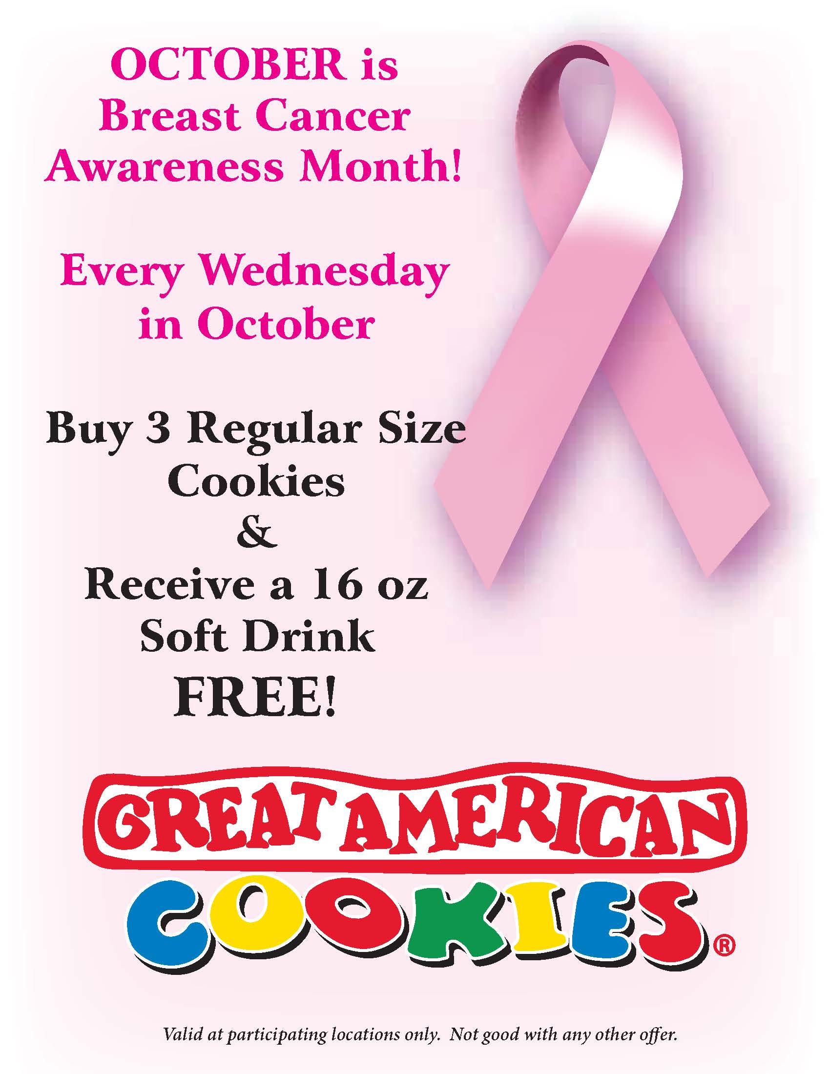 October Special from Great American Cookie Co