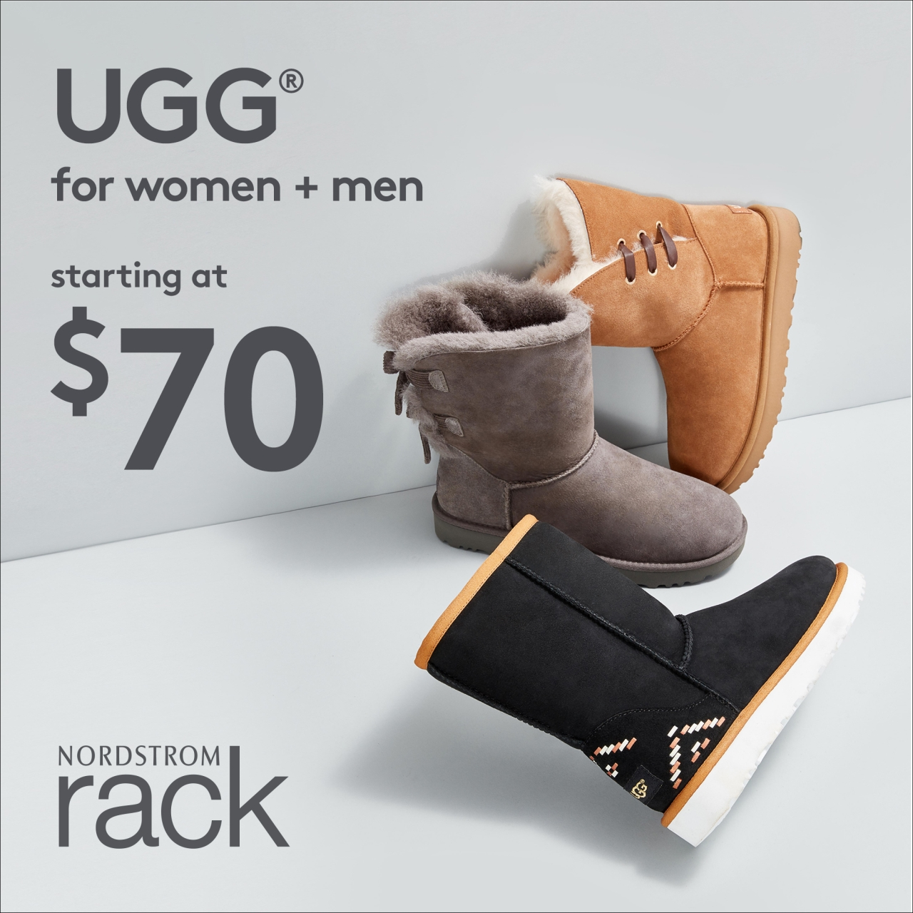 UGG, for men & women, in stores now at Nordstrom Rack!